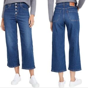 NWT LEVI'S Mile High Cropped Wide Leg Jeans